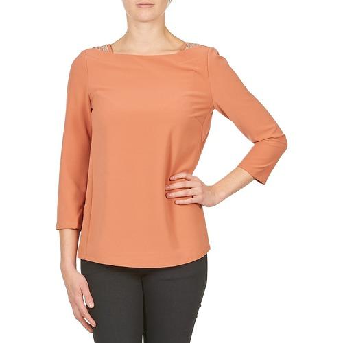 Textil Ženy Trička s dlouhými rukávy Color Block 3214723 Korálová