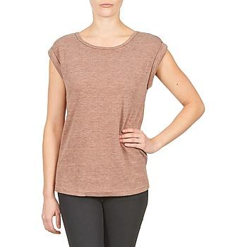 Textil Ženy Trička s krátkým rukávem Color Block 3203417 Růžová / Sepraný / Šedá