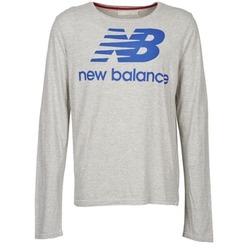Textil Muži Trička s dlouhými rukávy New Balance NBSS1403 LONG SLEEVE TEE Šedá