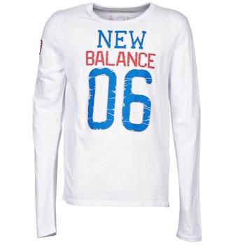 Textil Muži Trička s dlouhými rukávy New Balance NBSS1404 GRAPHIC LONG SLEEVE TEE Bílá