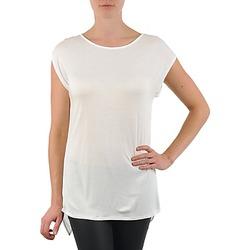 Textil Ženy Trička s krátkým rukávem La City TS CROIS D6 Bílá