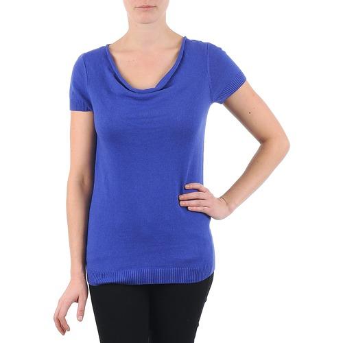Textil Ženy Trička s krátkým rukávem La City PULL COL BEB Modrá