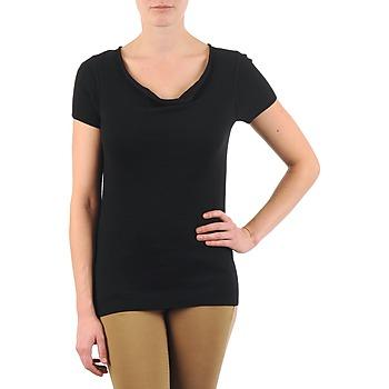 Textil Ženy Trička s krátkým rukávem La City PULL COL BEB Černá