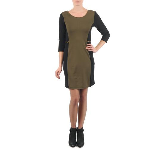 Textil Ženy Krátké šaty La City ROKAMIL Khaki / Černá
