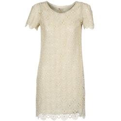 Textil Ženy Krátké šaty Stella Forest ARO051 Krémově bílá / Zlatá