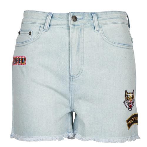Textil Ženy Kraťasy / Bermudy American Retro BORIS Modrá