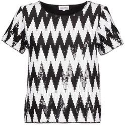Textil Ženy Trička s krátkým rukávem American Retro GEGE Černá / Bílá