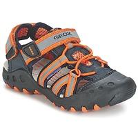 Boty Chlapecké Sportovní sandály Geox SAND.KYLE C Tmavě modrá / Oranžová