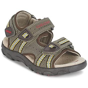 Boty Chlapecké Sportovní sandály Geox S.STRADA A Hnědá / Okrová