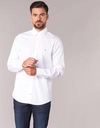 Textil Muži Košile s dlouhymi rukávy Tommy Hilfiger STRETCH POPLIN Bílá