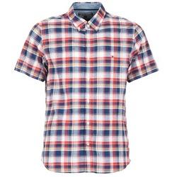 Textil Muži Košile s krátkými rukávy Tommy Hilfiger FRENCH CHK Tmavě modrá / Červená