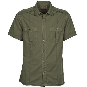 Textil Muži Košile s krátkými rukávy Chevignon C MILITARY TWIL Zelená