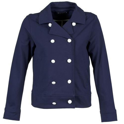 Textil Ženy Saka / Blejzry Petit Bateau FLORINE Tmavě modrá