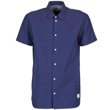 Textil Muži Košile s krátkými rukávy Suit DAN S Modrá