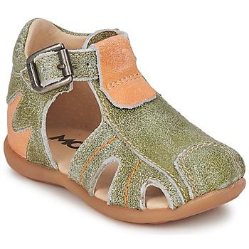 Boty Chlapecké Sandály Mod'8 ALUCINE Zelená / Oranžová