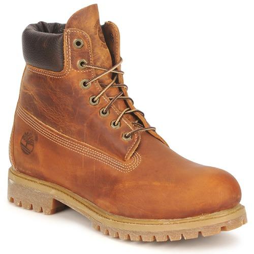 Boty Muži Kotníkové boty Timberland HERITAGE 6 IN PREMIUM Hnědá
