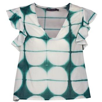 Textil Ženy Trička s krátkým rukávem Antik Batik BAB Bílá / Zelená
