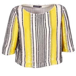 Textil Ženy Halenky / Blůzy Antik Batik ZABOU Žlutá / Bílá / Černá