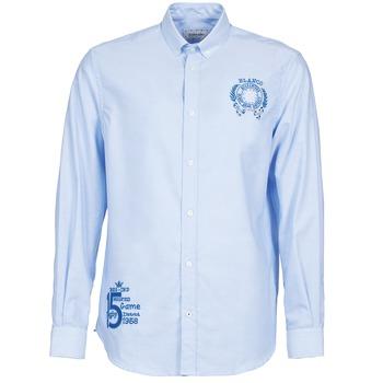 Textil Muži Košile s dlouhymi rukávy Serge Blanco ANTONIO Modrá
