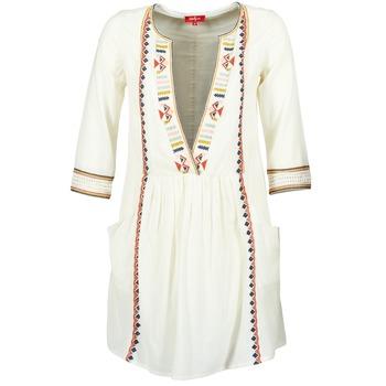 Textil Ženy Krátké šaty Derhy EMBOUCHURE Krémově bílá