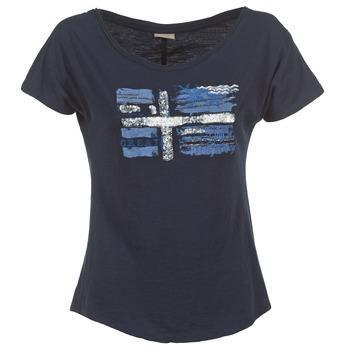Textil Ženy Trička s krátkým rukávem Napapijri SINK Tmavě modrá