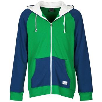 Textil Muži Mikiny Nixon ANCHOR Modrá / Zelená