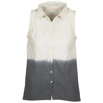 Textil Ženy Košile / Halenky Teddy Smith CAMILLE Modrá / Krémově bílá