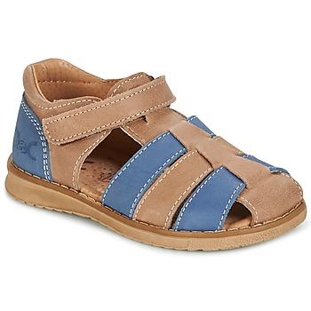 Boty Chlapecké Sandály Citrouille et Compagnie FRINOUI Hnědá / Modrá