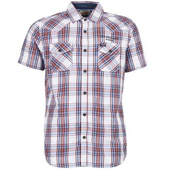 Textil Muži Košile s krátkými rukávy Petrol Industries SHIRT SS Bílá / Červená