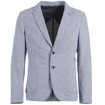 Textil Muži Saka / Blejzry Benetton CHEVOTU Modrá