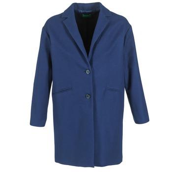 Textil Ženy Kabáty Benetton AGRETE Tmavě modrá