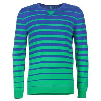 Textil Muži Svetry Benetton FODIME Tmavě modrá / Zelená