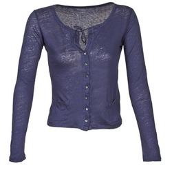 Textil Ženy Svetry / Svetry se zapínáním Majestic BATHILDE Modrá