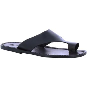 Boty Muži pantofle Gianluca - L'artigiano Del Cuoio 521 U NERO CUOIO nero