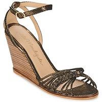Boty Ženy Sandály Petite Mendigote COLOMBE Černá / Zlatá