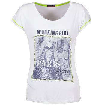 Textil Ženy Trička s krátkým rukávem La City TMCD3 Bílá