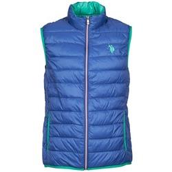 Textil Muži Prošívané bundy U.S Polo Assn. USPA LT PADDED VEST Modrá