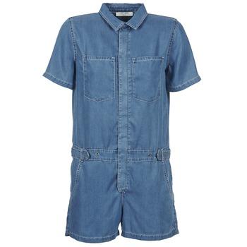 Textil Ženy Overaly / Kalhoty s laclem Teddy Smith CALINCA DENIM LYOCELL Modrá