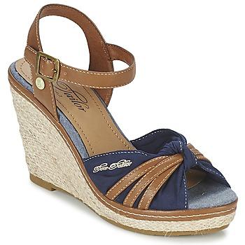 Boty Ženy Sandály Tom Tailor BASTIOL Tmavě modrá
