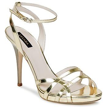 Boty Ženy Sandály Escada AS683 Zlatá
