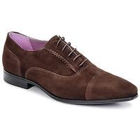 Boty Muži Šněrovací společenská obuv BKR KIPLIN Šedobéžová