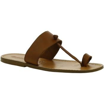 Boty Ženy Kotníkové boty Gianluca - L'artigiano Del Cuoio 554 U CUOIO CUOIO Cuoio