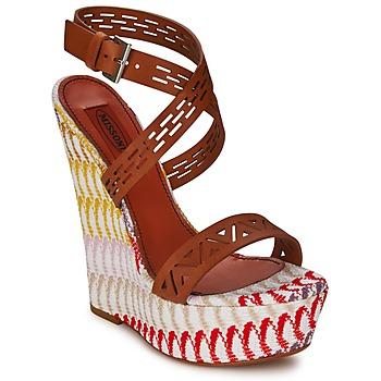 Boty Ženy Sandály Missoni XM015 Hnědá / Vícebarevná