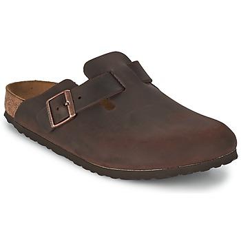 Boty Pantofle Birkenstock BOSTON Hnědá