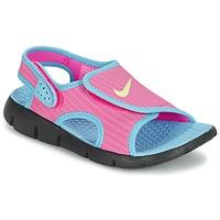 Boty Dívčí Sandály Nike SUNRAY ADJUST 4 Růžová / Modrá