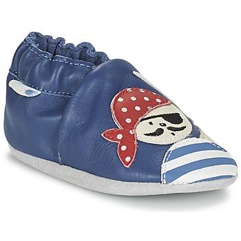 Boty Chlapecké Bačkůrky pro miminka Robeez JOLLY PEG Modrá