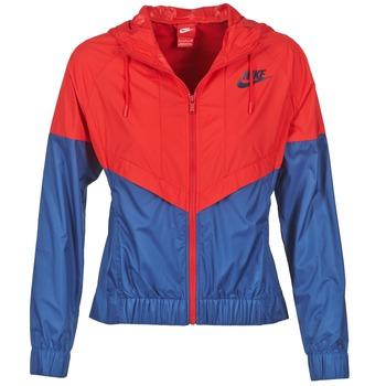 Textil Ženy Větrovky Nike WINDRUNNER Tmavě modrá / Červená