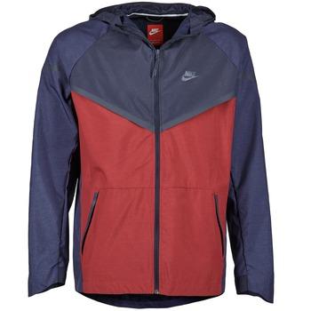 Textil Muži Větrovky Nike TECH WINDRUNNER Červená / Tmavě modrá / Šedá