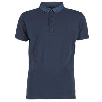Textil Muži Polo s krátkými rukávy Deeluxe AGAINER Tmavě modrá
