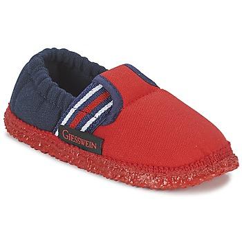 Boty Chlapecké Papuče Giesswein AICHACH Červená / Tmavě modrá